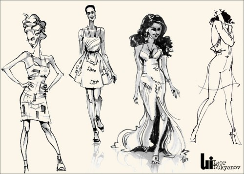 fashion sketch by Igor Lukyanov