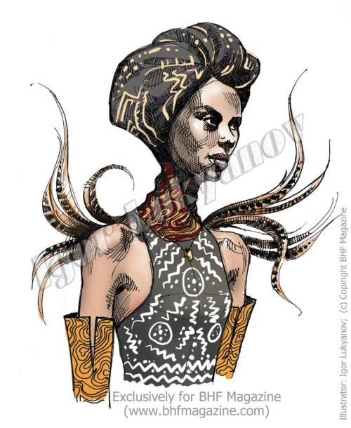 African fashion illustration by Igor Lukyanov
