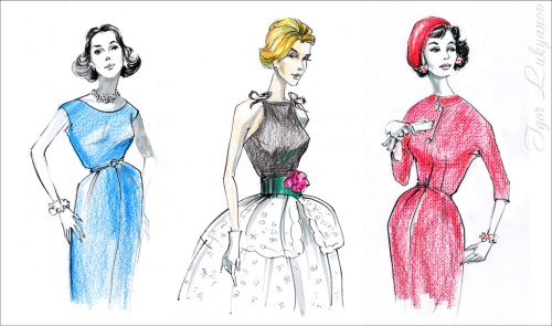 vintage retro fashion illustration