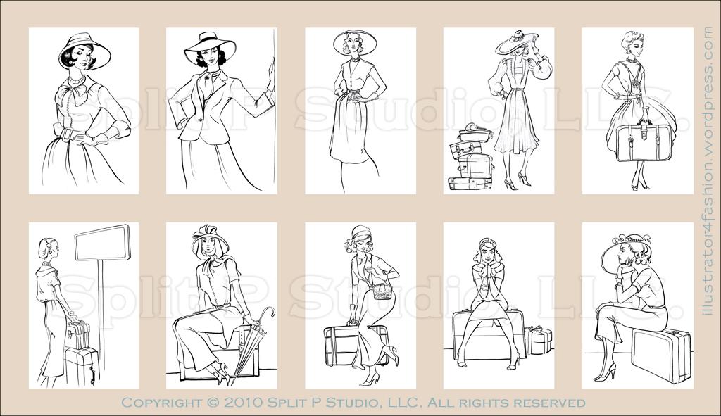 vintage fashion fashion illustrations by igor lukyanov